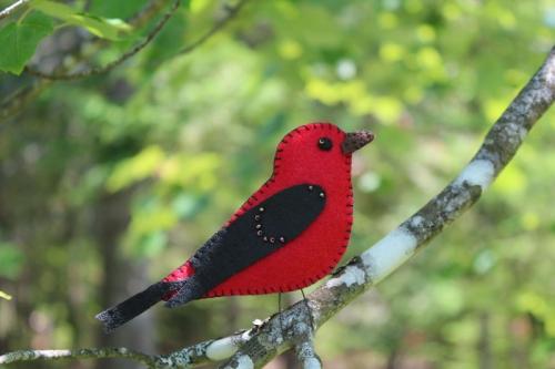 scarlet tanger felt ornament