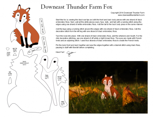 red fox pattern