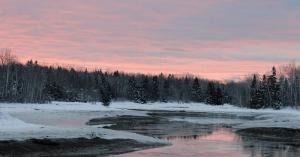 winter's first sunrise