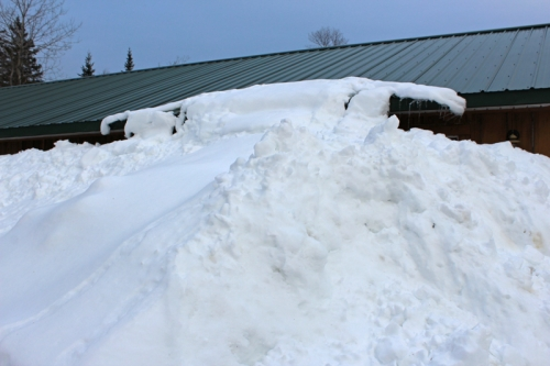 snow up to the roof in maine
