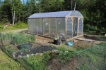 Time will tell how the greenhouse holds up in our crazy Maine weather. There's a lot I need to learn about using the greenhouse and have likely already made mistakes. Live and learn!