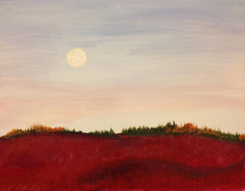 Full Moon Over the Barrens Painting
