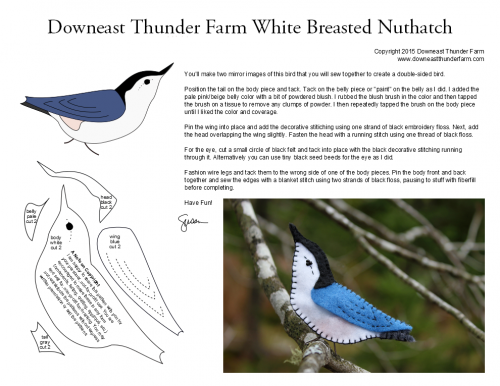 white breasted nuthatch pattern