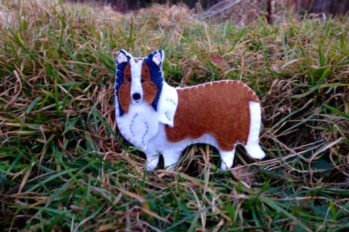 felt sheltie pattern