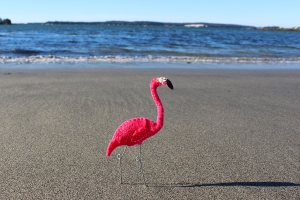 felt flamingo pattern
