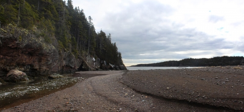 tidal stream at Jasper Beach