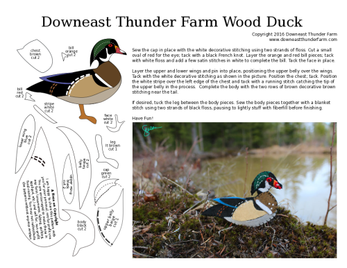wood duck ornament pattern