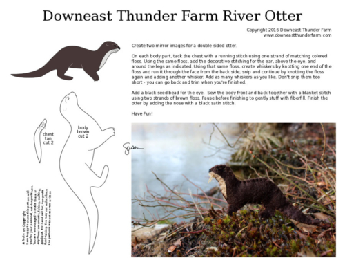 river otter pattern