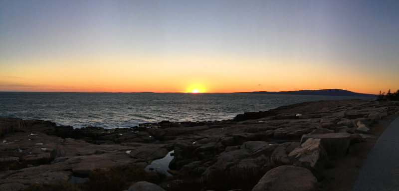 Sunset at Schoodic
