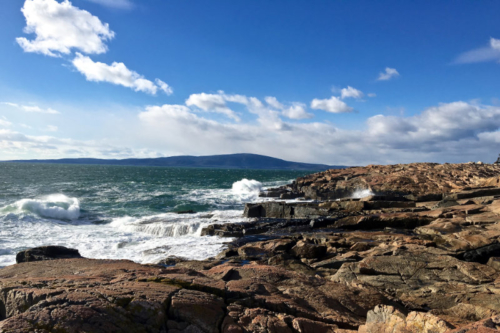 blue skies at schoodic point