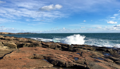 big waves at schoodic