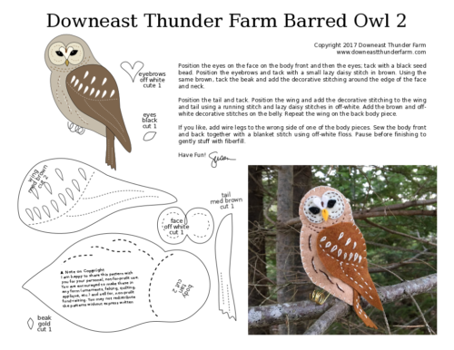 Downeast Thunder Farm Woodland Barred Owl