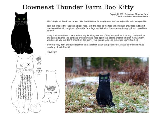 black cat printable felt pattern