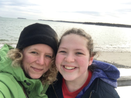 mother and daughter selfie