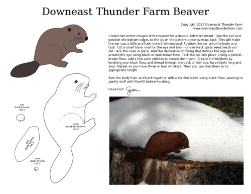 printable beaver pattern