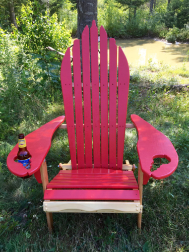 lobster shaped adirondack chair