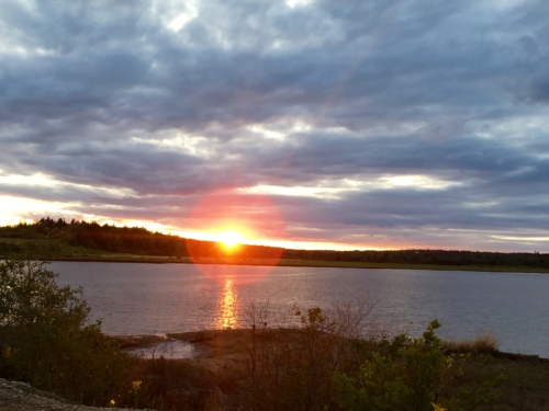 sunset in Machias Maine