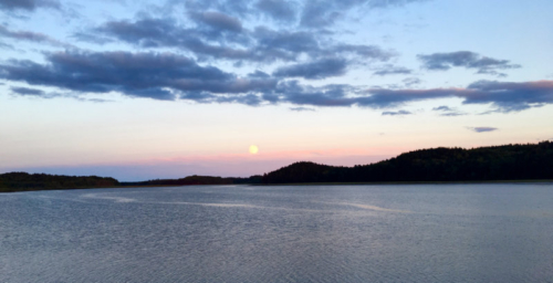 full moon over machias bay