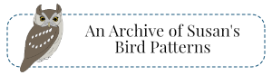 archive of felt bird patterns