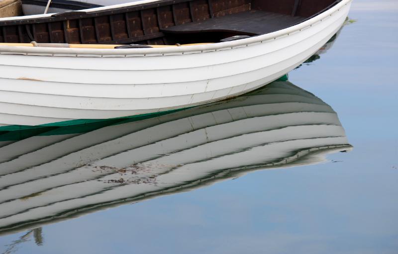 dinghy in castine