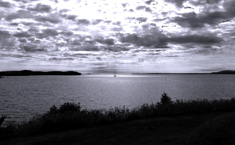 boat motoring in from penobscot bay