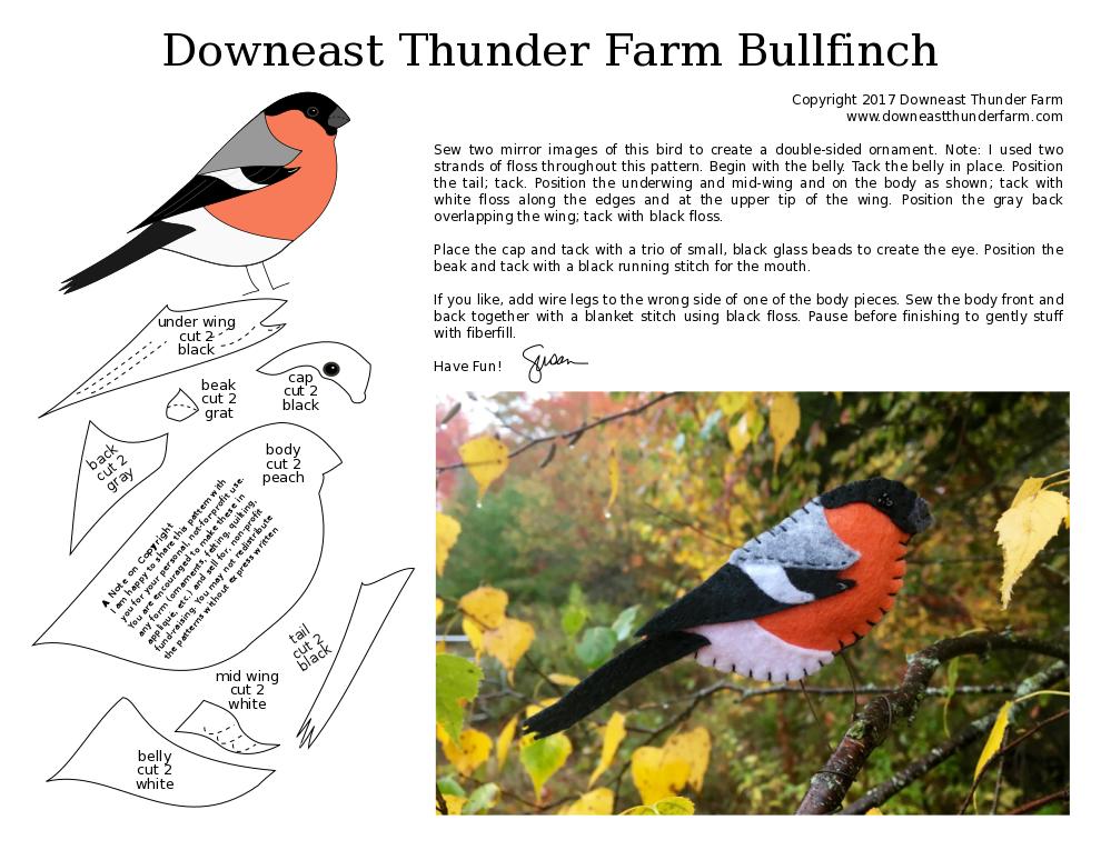 printable bullfinch pattern