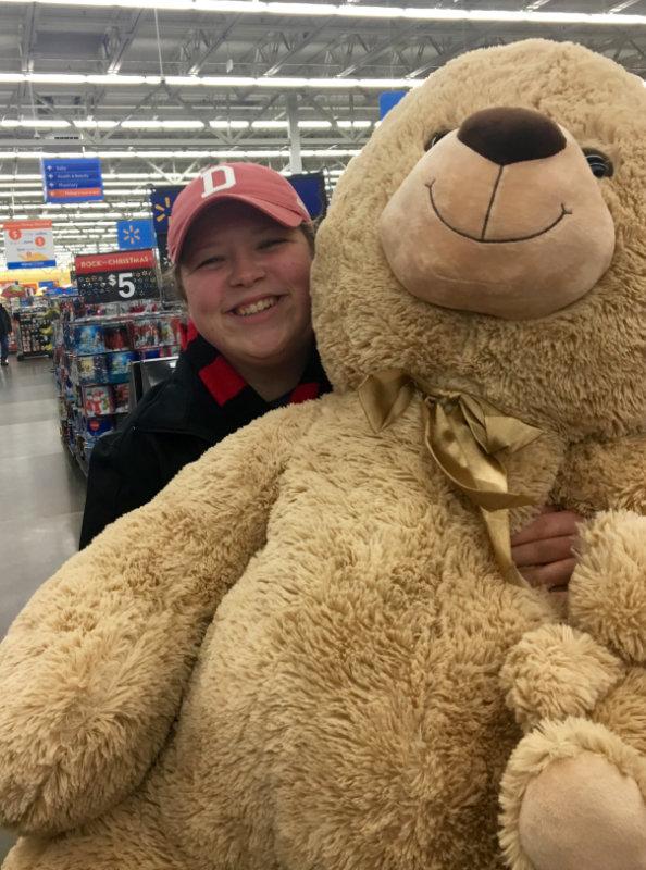 never too old for a teddy bear