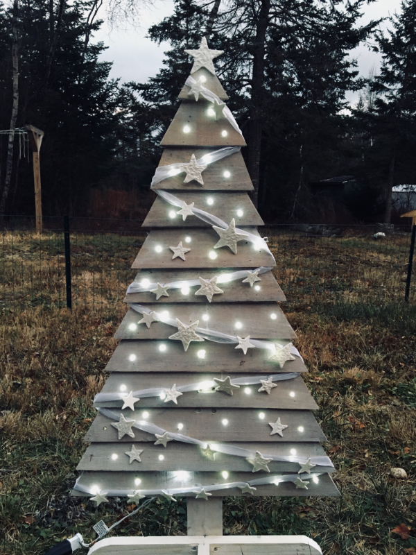 An Upcycled Pallet Tree