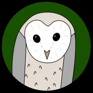 felt barn owl Christmas ornament