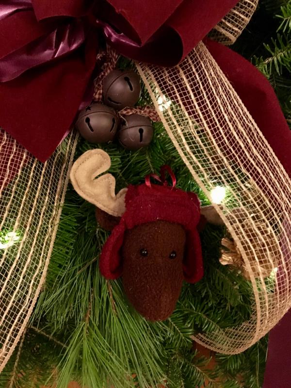 A Rustic Moose Wreath