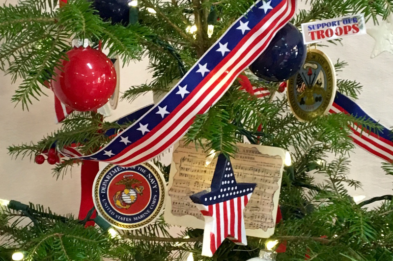 Patriotic Red, White, and Blue ornaments from Downeast Thunder Farm