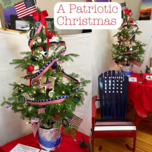 A Patriotic Christmas tree celebrating the American Flag from Downeast Thunder Farm