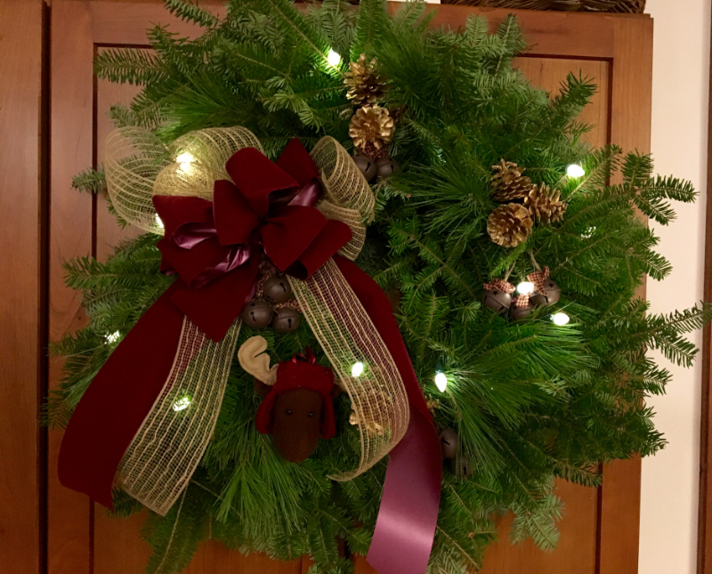 A Rustic Christmas Moose Wreath from Downeast Thunder Farm