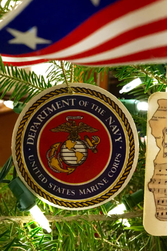 Military branch seal ornaments from Downeast Thunder Farm