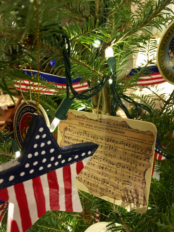 Stars and the Star Spangled Banner ornaments at Downeast Thunder Farm