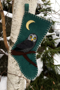 felt owl stocking