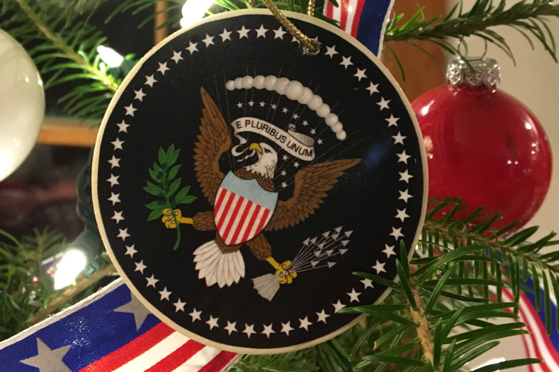 US Seal patriotic ornament from Downeast Thunder Farm