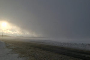 snow squall over the barrens
