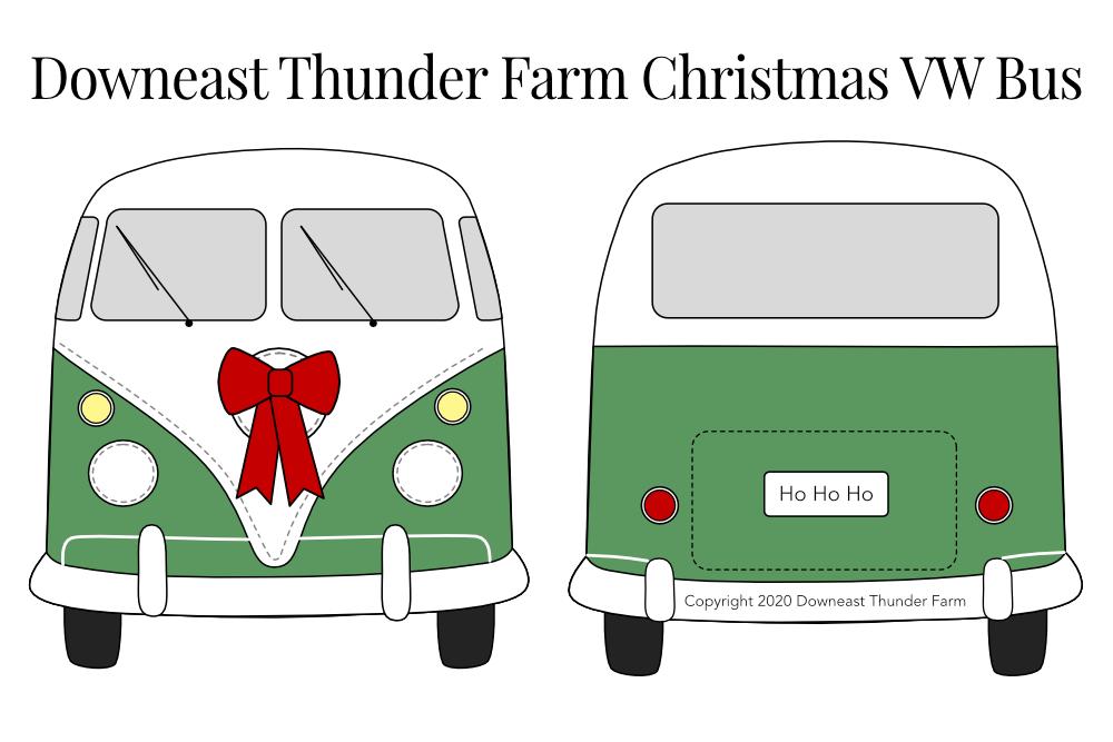 The Cool Christmas VW Bus